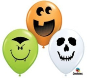 Halloween Face Assortment 13cm Latex Balloon