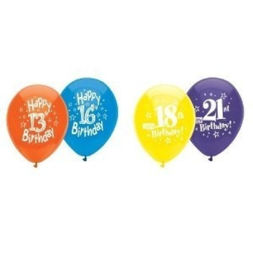 Happy 16th Birthday Party Balloons (8 Count). Free