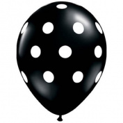 Black & White Dots Latex Balloons Qualatex 25 Per Pack