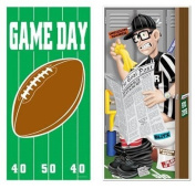 SET of 2 FOOTBALL Door BANNERS 80cm x 150cm /PARTY DECOR/GAME DAY/Decorations/REFEREE on Toilet/BIG Game/PLAY-OFF PARTIES/DOOR Covers/NFL