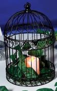 Decorative Black Bird Cage Centrepiece
