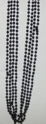 Festival Black Bead Necklaces-4 count