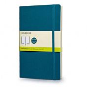 Moleskine Soft Large Underwater Blue Plain Notebook