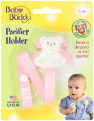 Baby Buddy Bear Pacifier Holder 2ct for 0-36 Months