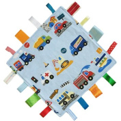 New handmade security tag blanket comforter by Dotty Fish. Made in England. Vehicles Design.
