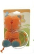 Safari Friends Teether/Rattle Orange
