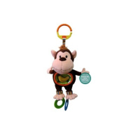 Teether and Rattle Travel Toy Monkey