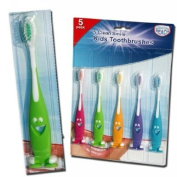 SET 5 KIDS CHILDRENS CLEAN SMILE TOOTHBRUSH TEETH TOOTH CLEANING TOOTHBRUSHES