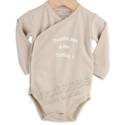 OFFERS Baby cross over bodysuits 'Don't touch my dummy' - French Quality Brand