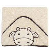 Happy Bath Hooded Towel Happy beige 100x100 cm
