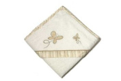 Be Be's Collection - hooded towel - butterfly - brown 80x80