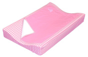 Taftan Hearts Cheques Changing Pad Cover Set 72 x 44cm