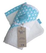Rosy Cheek Cosy Pebbles Bamboo Hooded Towel / Wash Mitt Set