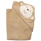 Imported Machine Washable Carter's Baby Hooded Towel (30 X 1.3cm X 80cm ; 270mls) - Monkey Baby / Child / Infant / Kid