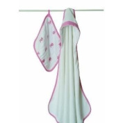 Aden + Anais Machine Washable Terry Hooded Towel And Muslin Washcloth Set - Bathing Beauty Baby / Child / Infant / Kid