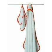 Aden + Anais Machine Washable Terry Hooded Towel And Soft Muslin Washcloth Set - Splish Splash Baby / Child / Infant / Kid