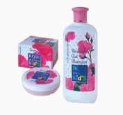 Rose of Bulgaria Kid's Set - 2in1 Shower Gel and Shampoo 200ml & Hypoallergenic Cream 75ml