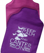 Funky Filly® Girls Hottie 'Keep Warm And Hug A Pony' Cute Soft Cotton Hot Water Bottle Cover Lilac, Size 35 cm x 24 cm