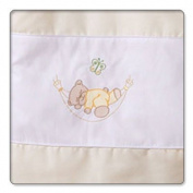 Cream sleepy teddy Soft changing mat