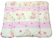 Pink hearts Soft changing mat