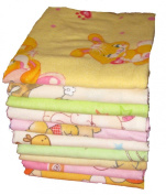 Babymajawelt 70 x 80cm Baby Flannel Sheets for Girls