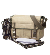 Military Canvas Satchel Nappy Bag by Oi Oi