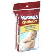 convenient Huggies Disposable soft and absorbent top Changing Pads - 8 pads/ Pack, 5 Packs