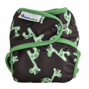 Best Bottom Cloth Nappies - Snap - Green Giraffe