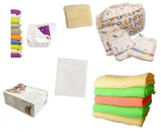 Popolini Nappies OneSize & Rainbow Set- Resuable Nappy First Equipment for Baby
