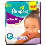 Pampers Active Fit Size 5+ (Junior +) Large Pack 45 Nappies