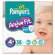 Pampers Active Fit Size 4+ (9-20kg) Essential Pack Maxi Plus 3x36 per pack