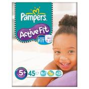 Pampers Active Fit Size 5+ (13-27kg) Large Bag Junior Plus 2x45 per pack