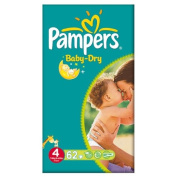 Pampers Baby Dry Size 4 (7-18kg) Large Pack Maxi 2x62 per pack