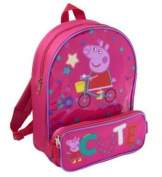 Peppa Pig Childs Small Backpack / Rucksack / School Bag CUTE Design with Pencil Case