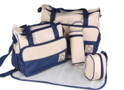 Tofern 5pcs Baby bag Baby Nappy Changing Bag Set Nappy Bag