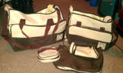 5pcs Baby Nappy Changing Bags Set in Brown