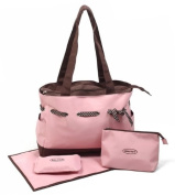 4pcs Baby Kit's Nappy Changing Bag in Pink