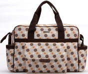 New Fashion Baby Nappy Changing Bag Nappy Bag 3Pcs Grey/Brown