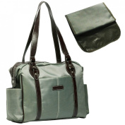 KF Baby SwaNk Nappy Bag, Army Green, with Changing Pad and kilofly Mini Gift-for-You Card