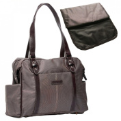 KF Baby SwaNk Nappy Bag, Brown, with Changing Pad and kilofly Mini Gift-for-You Card