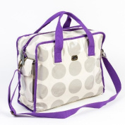 Caboodle Fun and Funky Baby Changing Bag - Grey Spot with Purple Trim