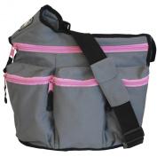 Nappy Diva Bag (Grey/ Pink)
