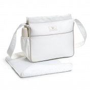 Eco Leather Bag & Changing Mat Cream