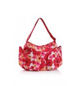 okiedog Changing Bag - Flower Power Mondo - Red/Pink
