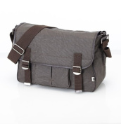 OiOi Changing Bag - OiOi Man - Chocolate Crushed Wax Canvas Military Satchel