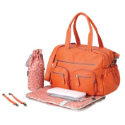 OiOi - Carry All Baby Changing Bag - Tangerine Faux Buffalo