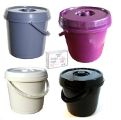 Ur Choice 14 Litre Nappy Bucket with Lid - Cream + 200 Nappy Bags Free