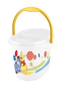 OKT Kids 1180010000300 Nappy Bin Winnie the Pooh and Friends White