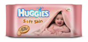 Huggies Soft Skin Baby Wipes - 10 x Packs of 64