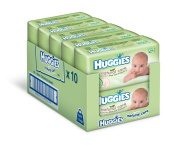 Huggies Natural Care Baby Wipes - 10 x packs of 64